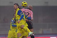 Fotball<br /> Italia<br /> Foto: Insidefoto/Digitalsport<br /> NORWAY ONLY<br /> <br /> Bostjan CESAR Chievo e Massimo MACCARONE Palermo<br /> <br /> 09.01.2011<br /> Chievo v Palermo