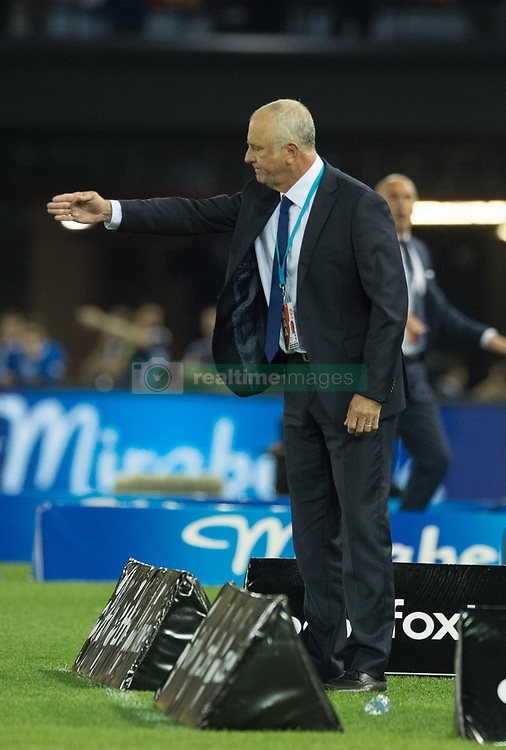October 7, 2017 - Melbourne, Victoria, Australia - Sydney FC manager Graham Arnold instructs his players during the round 1 match between Melbourne Victory and Sydney FC at Etihad Stadium in Melbourne, Australia during the 2017/2018 Australian A-League season. (Credit Image: © Theo Karanikos via ZUMA Wire)