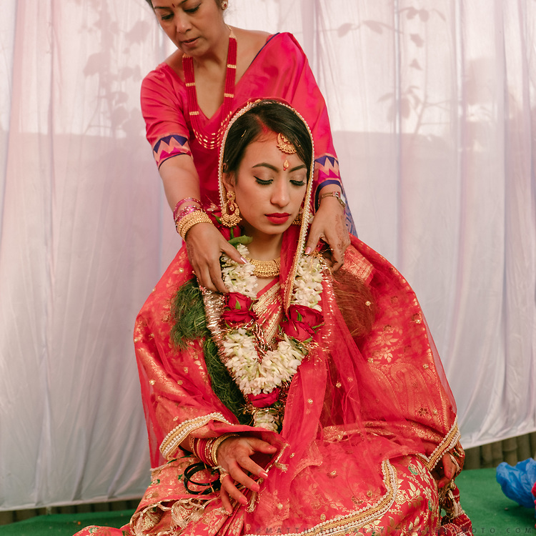 Wedding from Akriti Shrestha (Newari tribe) with Saumitra Dixit (Indian man from Jaipur, Rajasthan).<br /> Last day of the Hindu wedding. The Bride leave her home.