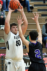 27 December 2018: Quincy Notre Dame Raiders v El Paso Gridley Titans. State Farm Holiday Classic Coed Basketball Tournament at Normal West High School in Normal Illinois