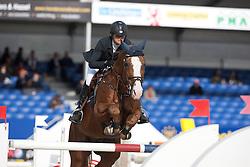 Goemaere Delphine (BEL) - Rexar Du Houssoit<br /> Belgisch Kampioenschap Jumping - Lanaken 2011<br /> © Dirk Caremans