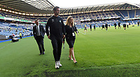 22/07/14 UEFA CHAMPIONS LEAGUE 2ND QUALIFYING ROUND 2ND LEG<br /> CELTIC v KR REYKJAVIK<br /> BT MURRAYFIELD STADIUM - EDINBURGH<br /> Ronny Deila (centre) gets a feel for Murrayfield ahead of his first 'home' match in charge of Celtic