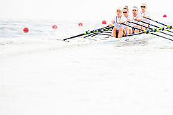 August 3, 2018 - Glasgow, UNITED KINGDOM - 180803 Marianne Madsen (bow), Hanna Inntjore (2), Anna Sture (3) and Inger Kavlie (stroke) of Norway compete in the Women's Rowing Quadruple Sculls repechage during the European Championships on August 3, 2018 in Glasgow..Photo: Jon Olav Nesvold / BILDBYRÃ…N / kod JE / 160281 (Credit Image: © Jon Olav Nesvold/Bildbyran via ZUMA Press)