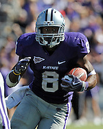 MANHATTAN, KS - SEPTEMBER 26:  Running back Daniel Thomas #8 of the Kansas State Wildcats rushes up field during the second quarter against the Tennessee Tech Golden Eagles at Bill Snyder Family Football Stadium on September 26, 2009 in Manhattan, Kansas.  (Photo by Peter G. Aiken/Getty Images)