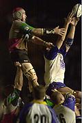 Twickenham , Surrey. UK,<br /> <br /> Twickenham Stoop Memorial Ground,<br /> <br /> <br /> Tel 44 (0) 7973 819 551<br /> [Mandatory Credit:Peter Spurrier/Intersport Image],<br /> <br /> Sport - Rugby 03/05/2002<br /> Zurich Premiership<br /> Quins vs Leeds
