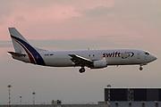 EC-MNM Swiftair Boeing 737-4Y0(SF) at Malpensa (MXP / LIMC), Milan, Italy