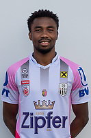 Download von www.picturedesk.com am 16.08.2019 (13:58). <br /> PASCHING, AUSTRIA - JULY 16: Samuel Tetteh of LASK during the team photo shooting - LASK at TGW Arena on July 16, 2019 in Pasching, Austria.190716_SEPA_19_035 - 20190716_PD12453