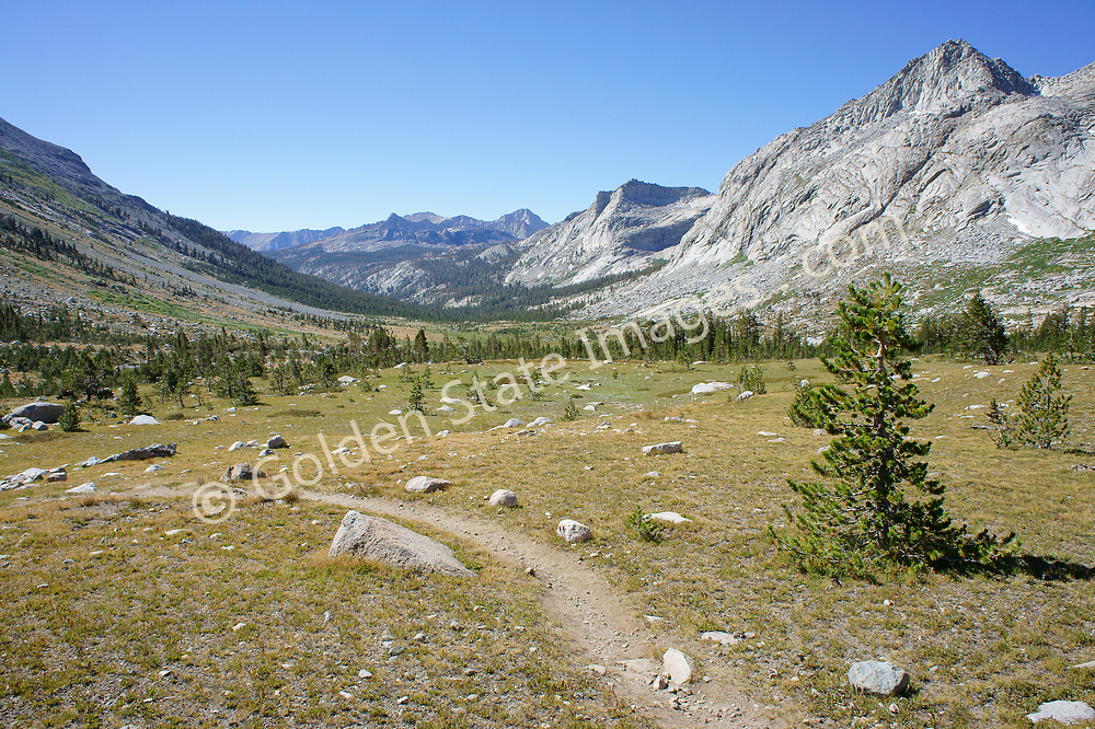 Looking at the High Sierra Trail in Sequoia's Big Arroyo.