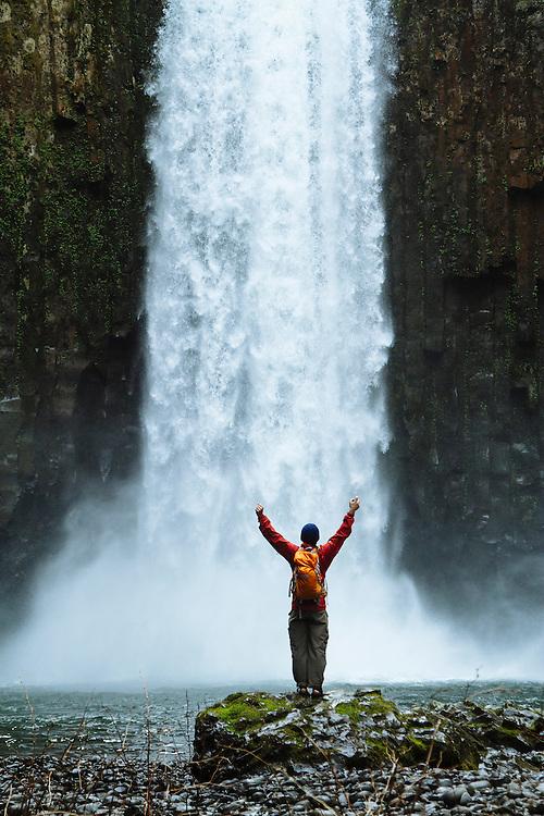 Hiking at Abiqua Falls. Willamette Valley, Oregon.