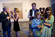 WINNER OF THE PRIZE; JIM GOLDBERG WITH HIS DAUGHTER RUBY GOLDBERG, ( RIGHT) The Photographers' Gallery Deutsche Borse Photography prize 2011.  Ambika P3. Baker St. London. 26 April 2011.  -DO NOT ARCHIVE-© Copyright Photograph by Dafydd Jones. 248 Clapham Rd. London SW9 0PZ. Tel 0207 820 0771. www.dafjones.com.
