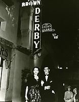 1936 Robert Cummings & Marsha Hune At The Brown Derby