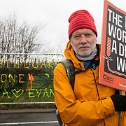 """David Daly.<br /> """"Renewables are the future but it needs a government that sees this in a positive way and does everything it can to develop renewables and turn its back on fossil fuels.  We have seen lots of equipment going inand out, Cuadrilla is not going to say, """"That's it"""", because it has got share holders but AJ Lucas' shares are down to about 20p so I dont know if thats an indicator or not of a future of an industry like this.""""<br /> It is Green Monday and first week of the second anniversary of Cuadrilla's fracking exploration in Preston New Road. For two years activists have been keeping an eye on the fracking company Cuadrilla from the roadside of the fracking site in Preston New Road. The company has not actively fracked since November and is currently seemingly busy emptiyng the site for heavy equipment. Prostesters and climate protectors are still by the gates trying to work out Cuadrilla's intensions."""