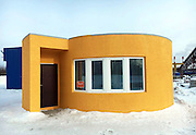 The first 3D printed house, in 24h and for less than $11,000<br /> <br /> 3D printing for construction continues its rise and democratization. Here is a new example with the first 3D printed house, created in 24h and for less than $11,000. It's the California startup Apis Cor who achieved this performance with its special 3D printer, able to quickly print modified concrete walls. For less than $11,000, you get a complete 3D printed house, including walls, foundations, ceiling, floor, insulation, doors, windows and interior and exterior finishes. The lifetime of such a 3D printed house is estimated to be over 175 years, making it a durable and inexpensive solution. <br /> <br /> to find out more visit there website: http://apis-cor.com<br /> ©ApisCor/Exclusivepix Media