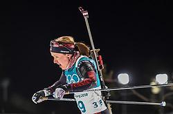 February 12, 2018 - Pyeongchang, Gangwon, South Korea - Baiba Bendika ofLatvia  competing at Women's 10km Pursuit, Biathlon, at olympics at Alpensia biathlon stadium, Pyeongchang, South Korea. on February 12, 2018. (Credit Image: © Ulrik Pedersen/NurPhoto via ZUMA Press)