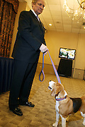 l to r: David Frei and Uno, 2008 Best in Show, at The133rd Westminister Kennel Club Dog Show Press Conference announcing The Dogue De Bordeaux debut at the Westminister Kennel Club Dog Show held at the Pennsylvania Hotel Sky Top Ball Room on February 5, 2009 in New York City