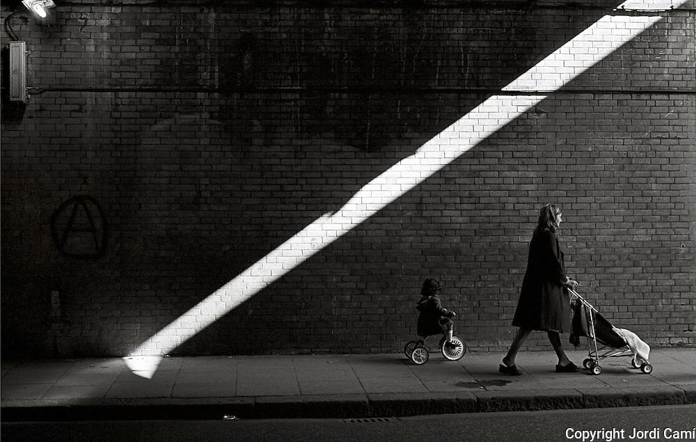 Clapham Junction bridge. Battersea. London. U.K. 1980