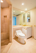 Interior of a condominium, bathroom, Photographed in Las Vegas, Nevada USA