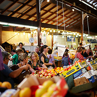 Fruit and vegetable shopping at Fremantle Markets, South Terrace