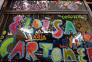 """Eloísa Cartonera, is a cooperative placed in the neighborhood of La Boca in the city of Buenos Aires, Argentina. They produce handmade books with cardboard covers. They purchase this cardboard from the urban pickers """"cartoneros"""" who pick it from the streets. The books are of Latin American literature, the most beautiful we had a chance to read in our lives, both as publishers as well as readers."""