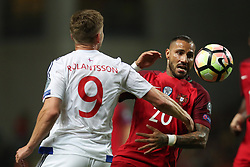 August 31, 2017 - Porto, Porto, Portugal - Portugal's forward Ricardo Quaresma (R) vies with Gilli Rolantsson midfielder of Ilhas Faroe (L) in action during the FIFA World Cup Russia 2018 qualifier match between Portugal and Faroe Islands at Bessa Sec XXI Stadium on August 31, 2017 in Porto, Portugal. (Credit Image: © Dpi/NurPhoto via ZUMA Press)