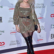 Tallia Storm arrive at Float Like A Butterfly Ball for Caudwell Children Charity at Grosvenor House Hotel on 16 November 2019, London, UK.