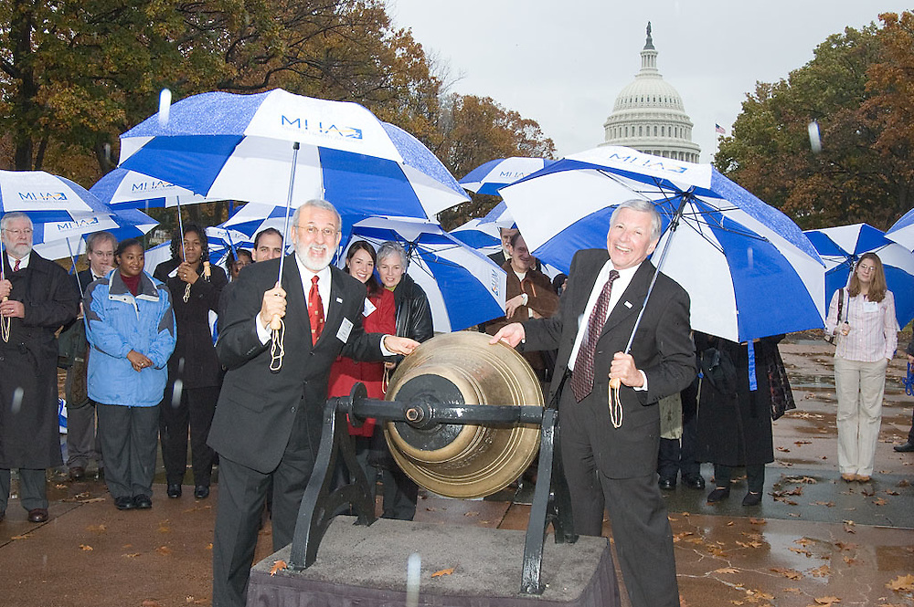 National Mental Heath Association announces it's new identity as Mental Health America with a ceremony and bell ringing at the US Capital Senate Park, a legislative luncheon at the Russell Senate Office Building and a reception and awards dinner at the Hyatt Regency, Washington, DC, Thursday, November 16, 2006.