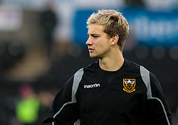 Northampton Saints' Harry Mallinder during the pre match warm up<br /> <br /> Photographer Simon King/Replay Images<br /> <br /> EPCR Champions Cup Round 4 - Ospreys v Northampton Saints - Sunday 17th December 2017 - Parc y Scarlets - Llanelli<br /> <br /> World Copyright © 2017 Replay Images. All rights reserved. info@replayimages.co.uk - www.replayimages.co.uk