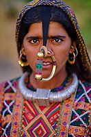 Inde, Gujarat, region du Kutch, region de Banni, femme Jat, population musulmane // India, Gujarat, Kutch, Banni district, Jat women, muslim population