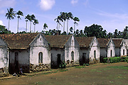 Old slave houses (sanzala) in Roca Sundy (Sundy Farm). Until the beggining of 20th century, farm owners putted in practise a different kind of slavery: after the end of slavery they took advantage of the fact that free slaves didn't have the money to pay their return to Angola and Cape Verde.