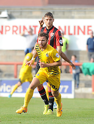 Matty Taylor of Bristol Rovers celebrates his goal - Mandatory byline: Neil Brookman/JMP - 07966 386802 - 03/10/2015 - FOOTBALL - Globe Arena - Morecambe, England - Morecambe FC v Bristol Rovers - Sky Bet League Two