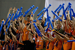 Fans of ACH at 2nd Semifinal match of CEV Indesit Champions League FINAL FOUR tournament between ACH Volley, Bled, SLO and Trentino BetClic Volley, ITA, on May 1, 2010, at Arena Atlas, Lodz, Poland. (Photo by Vid Ponikvar / Sportida)
