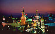 St. Basils and  Kremlin. A photograph made from the attic of the Rossiya Hotel<br />Photograph ny Dennis Brack. bb78