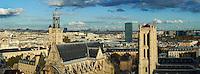 France, Paris (75), Quartier Latin, Tour Clovis du lycée Henri IV et Eglise Saint Etienne du Mont // France, Paris, Quartier Latin, Clovis Tower of Henri 4 school and Saint Etienne du Mont Church
