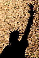 Statue of Liberty National Monument, New York City, New  York, New Jersey, Aerial, golden