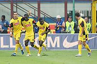 """Esultanza Gyan Asamoah (Udinese) dopo l'autogol di Ivan Ramiro Cordoba (Inter) che ha causato l'1-1<br /> Italian """"Serie A"""" 2007-08<br /> 26 Aug 2007 (Match Day 1)<br /> Inter-Udinese (1-1)<br /> """"Giuseppe Meazza""""-Stadium-Milano-Italy<br /> Photo Luca Pagliaricci INSIDE"""