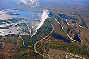 Victoria Waterfalls as seen from the sky