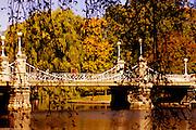 Image of the suspension bridge at Boston Public Gardens, Boston, Massachusetts, New England by Andrea Wells