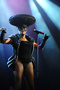 Grace Jones performs at the Island 50 concert London 2009