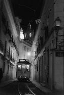 Portugal. Lisbon. Alfama district San Vicente da Fora church in the distance