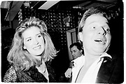 Tony Hickox with lady, party at legends nightclub, - London 22/02/82© Copyright Photograph by Dafydd Jones 66 Stockwell Park Rd. London SW9 0DA Tel 020 7733 0108 www.dafjones.com