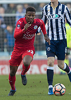 Football - 2016 / 2017 FA Cup - Fifth Round: Millwall vs. Leicester City <br /> <br /> Demarai Gray of Leicester City at The Den<br /> <br /> COLORSPORT/DANIEL BEARHAM