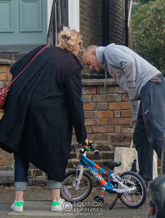 PICTURE EXCLUSIVE - SPECIAL FEES APPLY - CALL BEFORE USE<br /> London, United Kingdom - 8 September 2019<br /> Dominic Cummings looks startled to be spotted arriving back at his north London home on Sunday after a day out with his wife, Mary Wakefield, his son and some friends. Despite clutching a new child's bicycle and fussing over his young son, at times he seemed lost in his thoughts as he tried to focus on his family rather than the dramatic and explosive week in Westminster politics. As Boris Johnson's special political advisor, the former campaign director of Vote Leave has this week found himself at the centre of controversy and harsh criticism from MPs over the handling of the sacking of twenty one rebel Conservative MPs.<br /> EXCLUSIVE PICTURES - MANDATORY BYLINE: EQUINOXFEATURES.COM - A charge is made for each use of each picture in each format on each platform in each territory.<br /> (photo by: EQUINOXFEATURES.COM)<br /> Picture Data:<br /> Photographer: Equinox Features<br /> Copyright: ©2019 Equinox Licensing Ltd. +443700 780000<br /> Contact: Equinox Features<br /> Date Taken: 20190908<br /> Time Taken: 18490609<br /> www.newspics.com