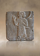 Hittite relief sculpted orthostat from a processing person from Tell Ahmar ancient Til Barsip, Syria, iX cent BC, Louvre Museum.