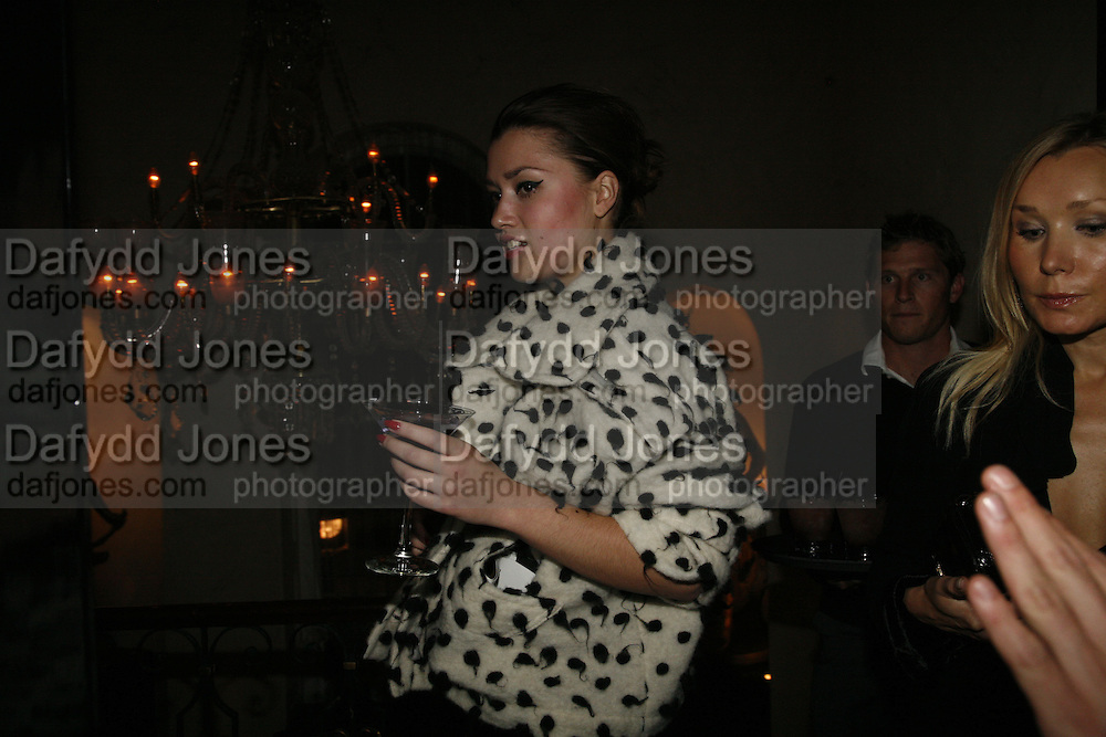 Alex Bakshakova, Biba after-show party organised by Quinessentially.  Royal Duchess Palace, 16 Mansfield Street, London W1. 19 September 2006.  ONE TIME USE ONLY - DO NOT ARCHIVE  © Copyright Photograph by Dafydd Jones 66 Stockwell Park Rd. London SW9 0DA Tel 020 7733 0108 www.dafjones.com