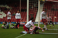 Photo: Tony Oudot.<br /> Brentford v Lincoln City. Coca Cola League 2. 27/10/2007.<br /> Sammy Moore of Brentford slides in to score the winning goal