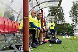 June 6, 2017 - Helsingborg, SVERIGE - 170606 Franz Brorsson pÅ' bÅnken under en trÅning med U21-landslaget i fotboll den 6 juni 2017 i Helsingborg  (Credit Image: © Ludvig Thunman/Bildbyran via ZUMA Wire)
