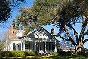 Traditional grand mansion house in North Union Street in Natchez, Mississippi, USA