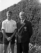 28/04/1962<br /> 04/28/1962<br /> 28 April 1962<br /> Schoolboys Hockey International Ireland v England at Londonbridge Road, Dublin. English player with Scottish Umpire.