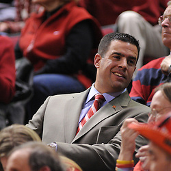 Mar 2, 2009; Piscataway, NJ, USA; New Rutgers athletic director Tim Pernetti during the second half of Rutgers game against nationally rated #1 Connecticut at the Louis Brown Athletic Center.  Connecticut won 69-59 to finish their regular season a perfect 30-0.