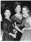 Princess Margaret, Mr Jane Stevens, Lady Sarah Armstrong-James (now Chalto) Cartier Launch, Grosvenor House 28/10/82© Copyright Photograph by Dafydd Jones 66 Stockwell Park Rd. London SW9 0DA Tel 020 7733 0108 www.dafjones.com